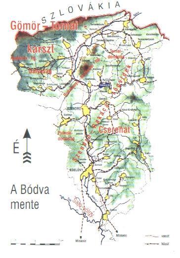 Bódva mente térkép