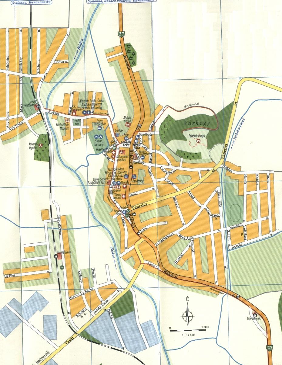 Szendrő város térkép